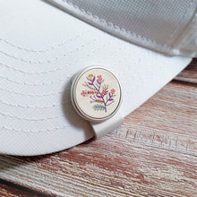 Load image into Gallery viewer, Floral Pattern - Silver Clip - birdea golf ball marker