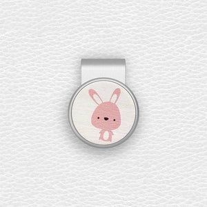 Cute Rabbit - Silver Clip - birdea golf ball marker