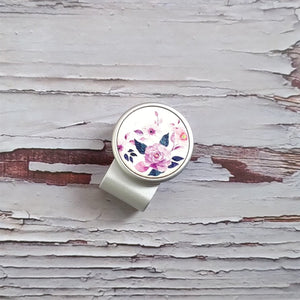 Purple Rose - Silver Clip - birdea golf ball marker
