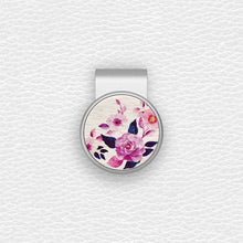 Load image into Gallery viewer, Purple Rose - Silver Clip - birdea golf ball marker