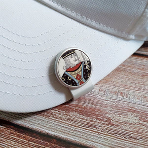 King Poker Card - Silver Clip - birdea golf ball marker