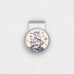 Sailboat - Silver Clip - birdea golf ball marker