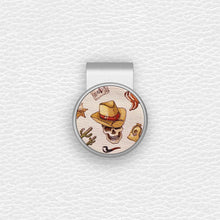 Load image into Gallery viewer, Cowboy Pattern - Silver Clip - birdea