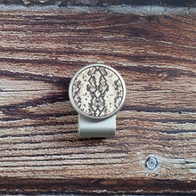 Load image into Gallery viewer, Snake Pattern - Silver Clip - birdea golf ball marker