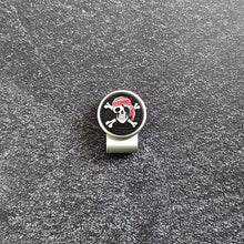 Load image into Gallery viewer, Skeleton Pirate - Silver Clip - birdea golf ball marker