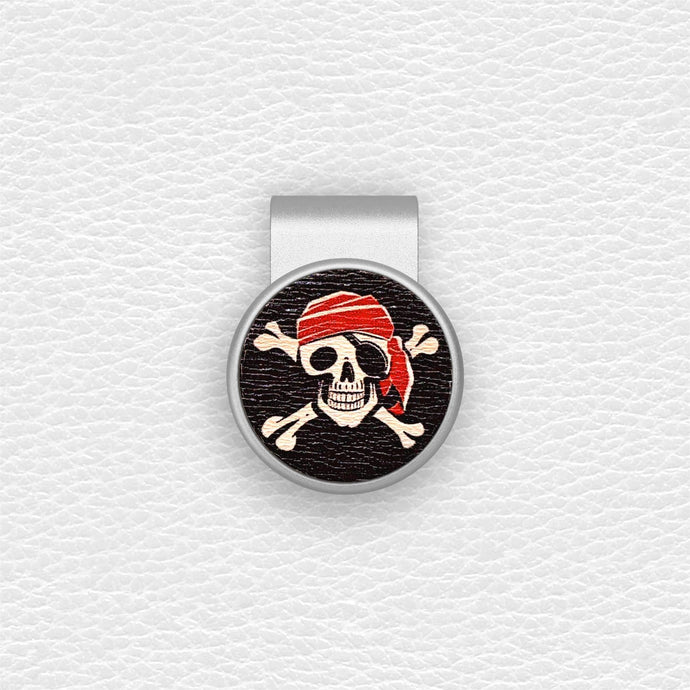 Skeleton Pirate - Silver Clip - birdea