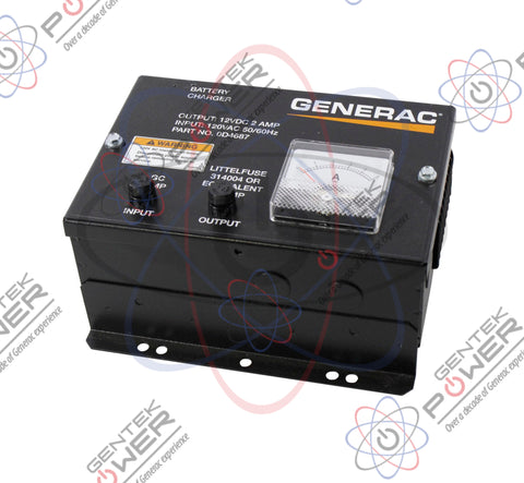 Generac 0D4687/062059 2A 12V Battery Charger