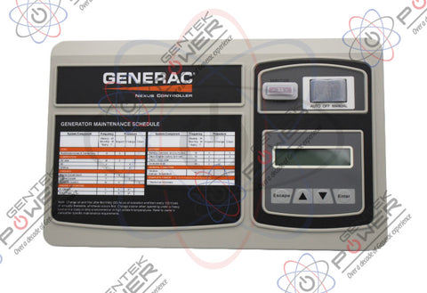 Generac 0H7668A/0H7668B/0H7668C/0H7668D/0H7668DSRV Nexus Control Panel For Liquid Cooled Generators