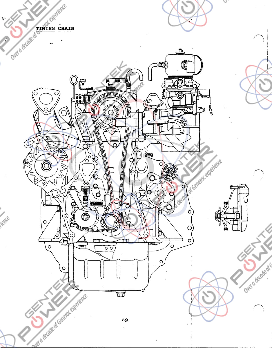 Generac 2.6L Mitsubishi Gas Engine Parts/Specs Manual