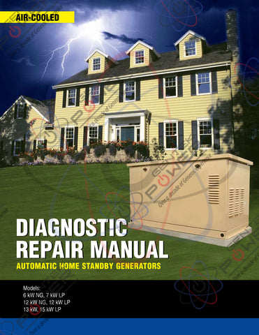 Generac Air Cooled 4000 (4390, 4456, 4389) Series Service & Repair Diagnostic Manual