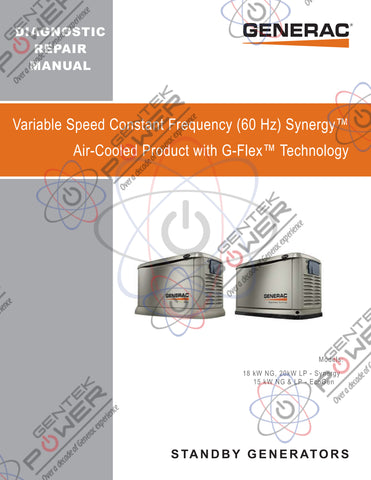 Generac Air Cooled Synergy & EcoGen VSCF Variable Speed Service & Repair Diagnostic Manual