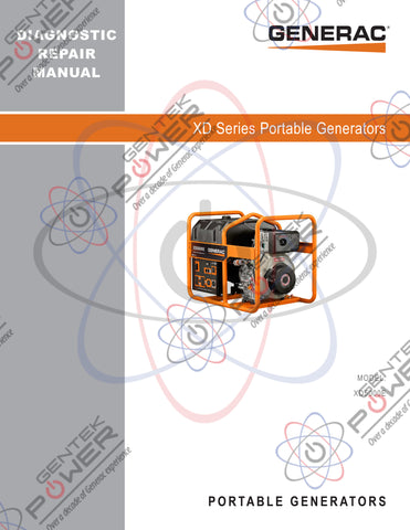 Generac XD5000E Diesel Service & Repair Diagnostic Manual
