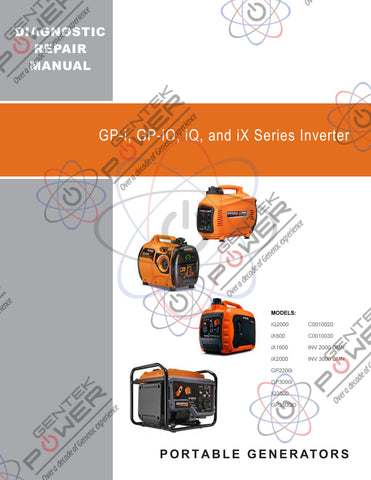 Generac iQ2000, iQ3500 iX Series, GPi Series Inverter Service & Repair Diagnostic Manual