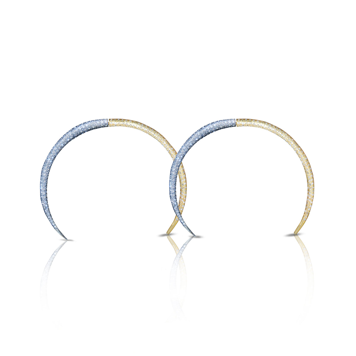 14K Double Tusk Earrings