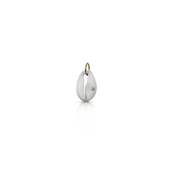14k Natural Cowrie Charm