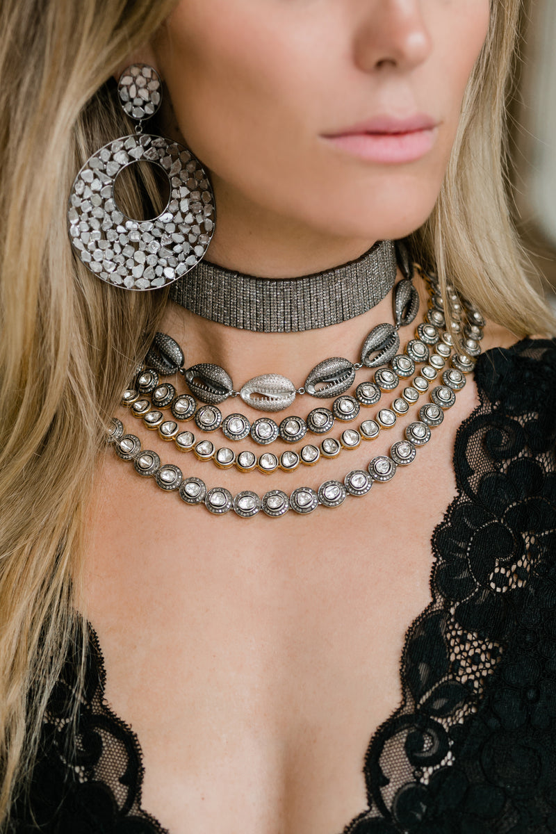 Pave Diamond Choker Necklace