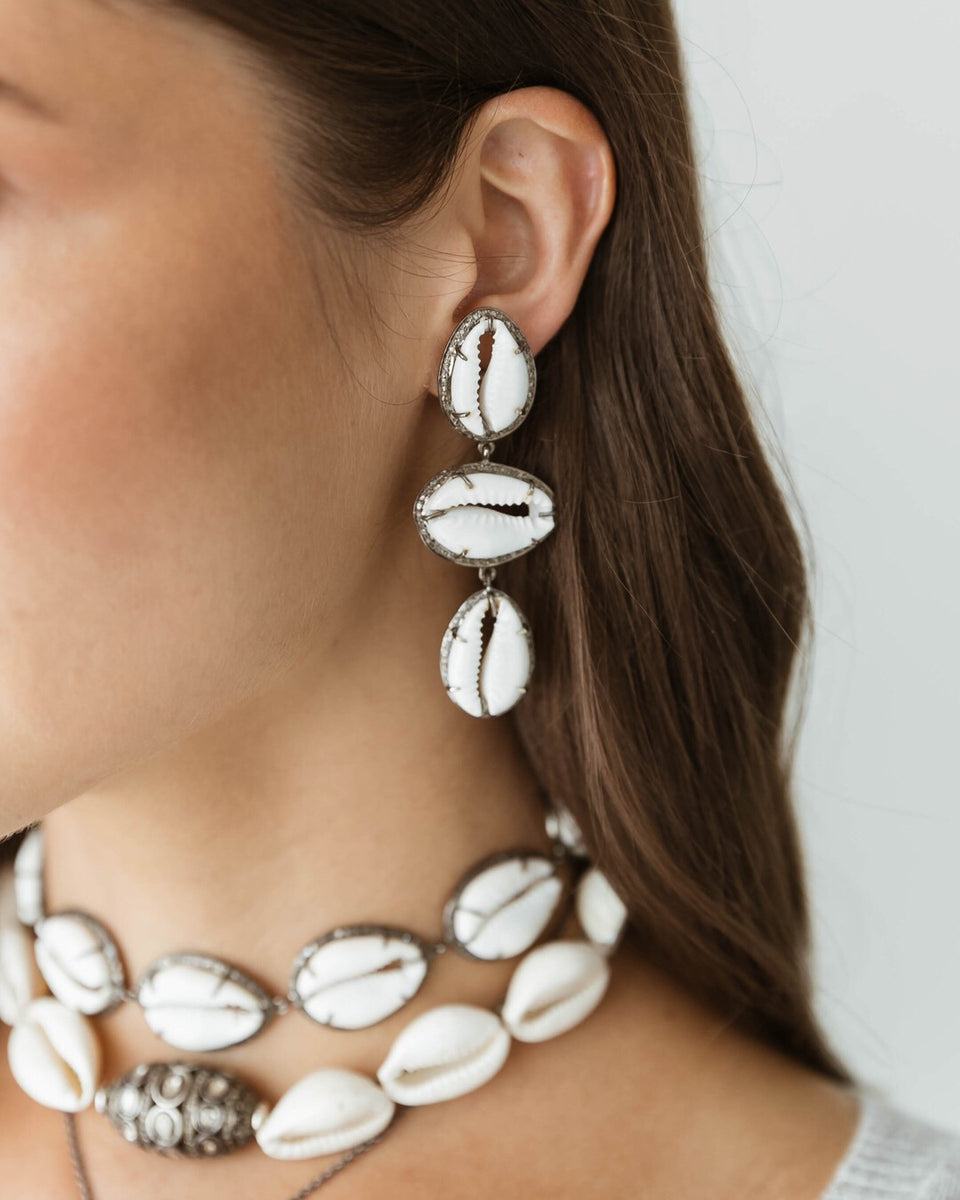 Cowrie Drop Earrings