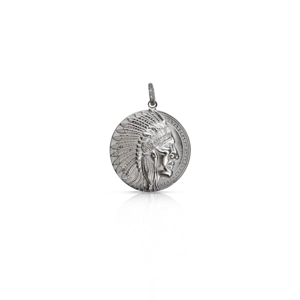 Silver Headdress Coin Pendant