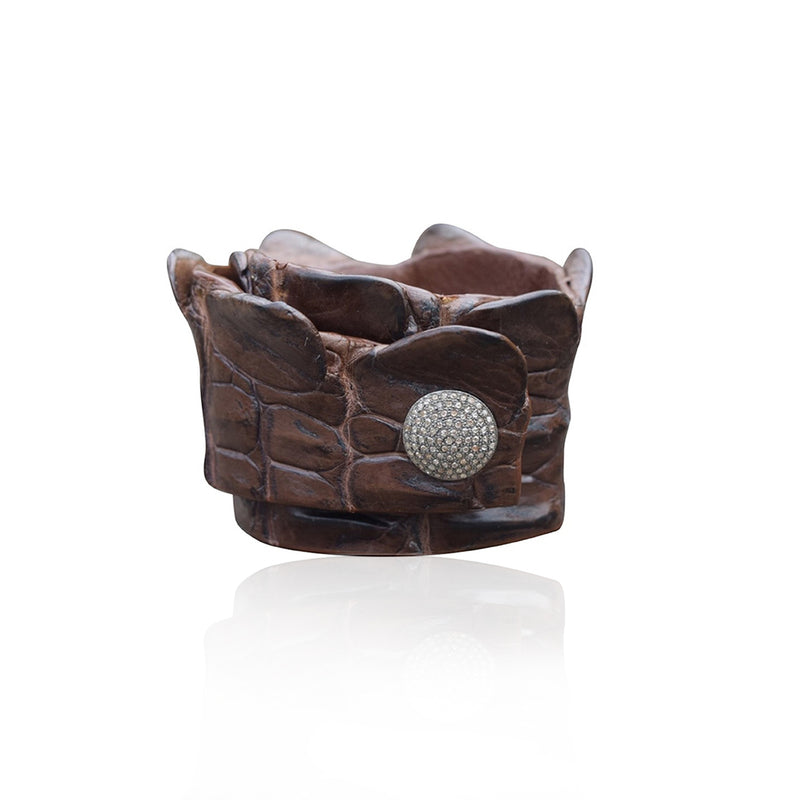 Crocodile Snap Wrap Brown