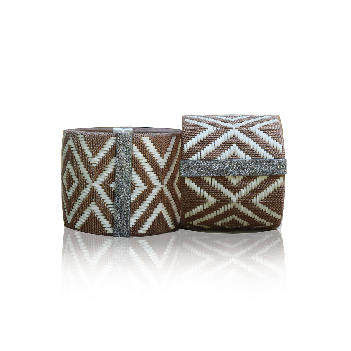 Large Woven Cuff Brown