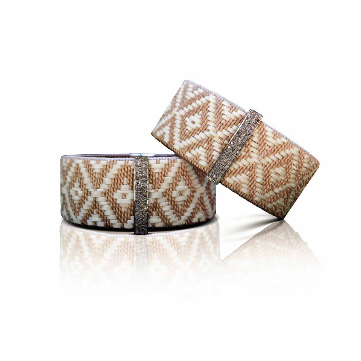 Small Woven Cuff Brown