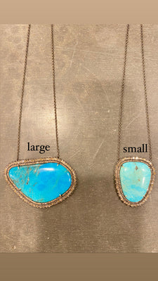 Small Turquoise Baguette Necklace
