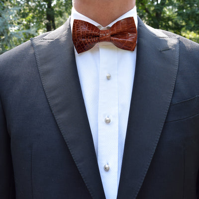 Finn|Carter Chocolate Croc Bow Tie