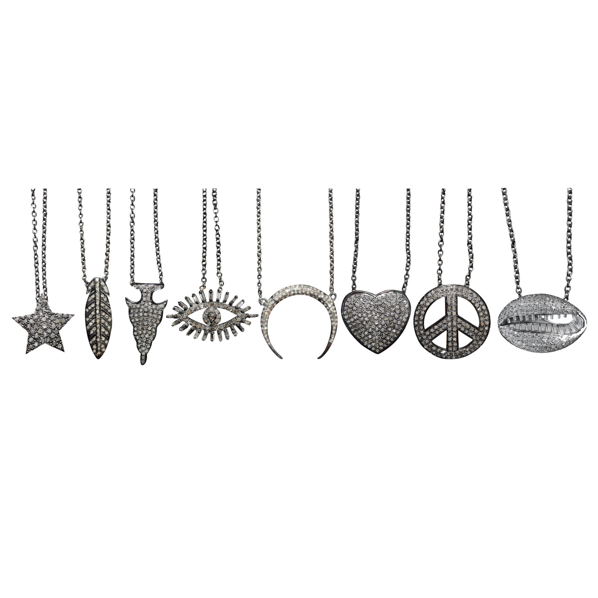 Peace Sign Charm Necklace