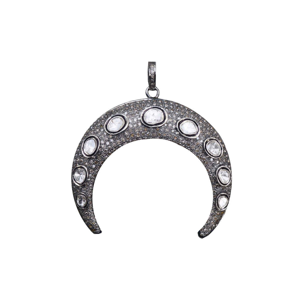 Diamond Double Tusk Pendant