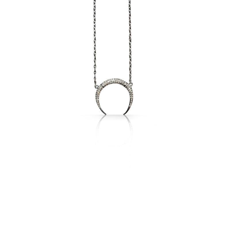 Double Tusk Charm Necklace
