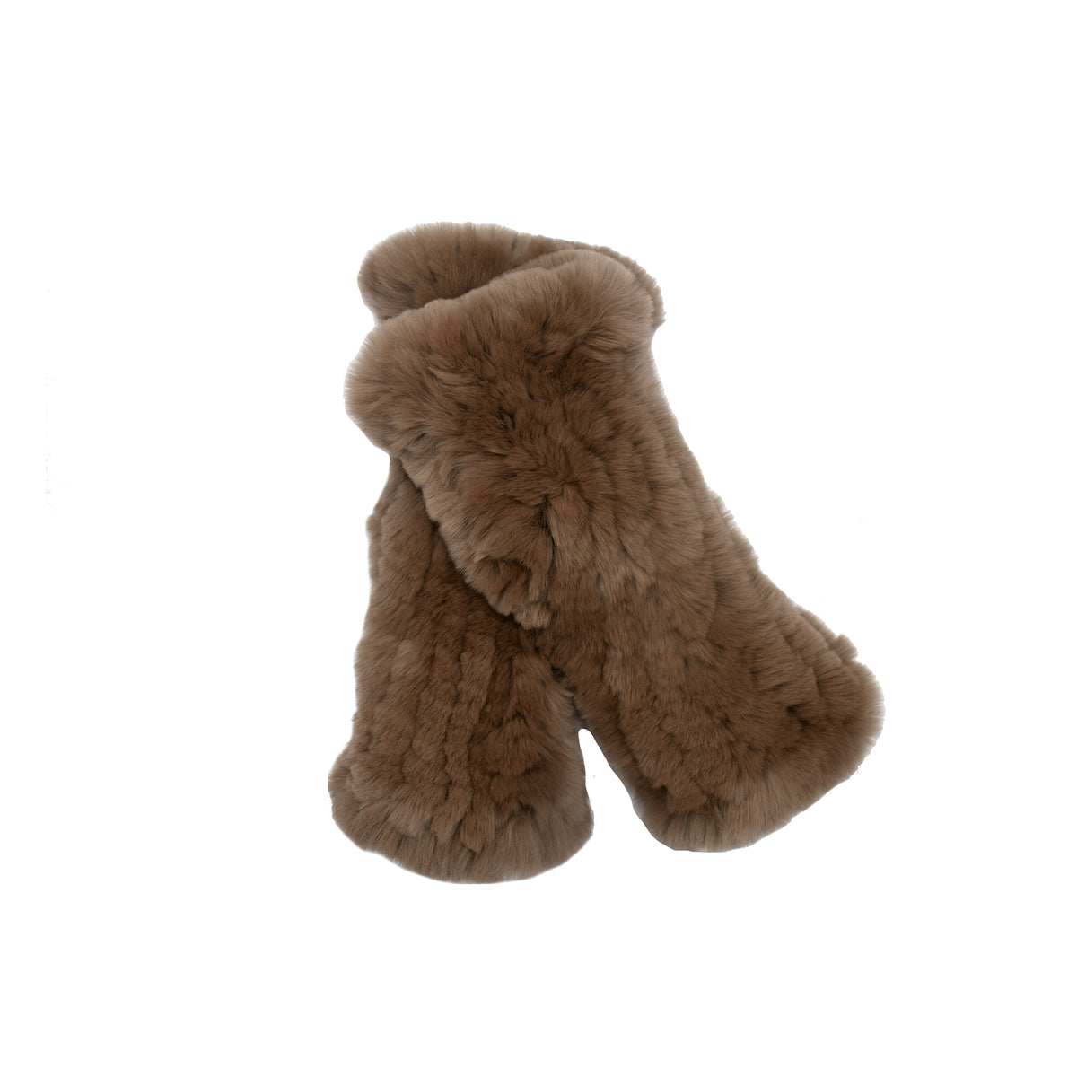 Brown Fur Hand Warmers