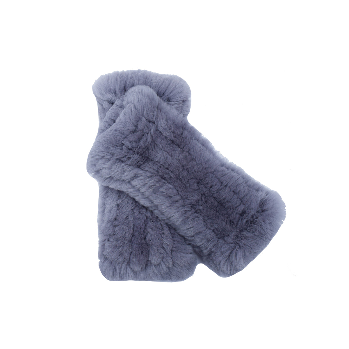 Grey Fur Hand Warmers