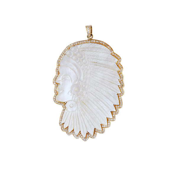 Gold Headdress Pendant