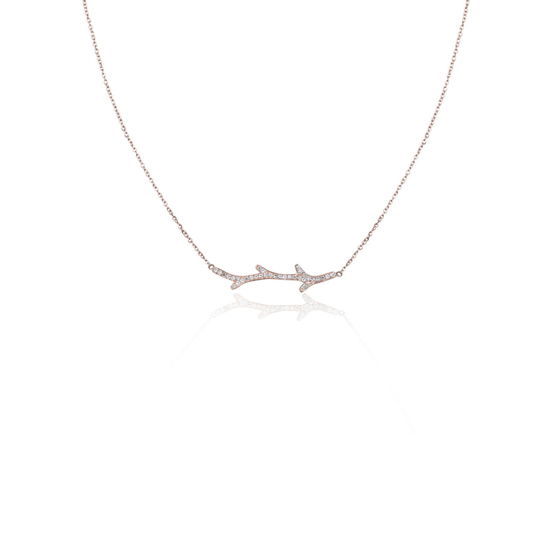 14k Dainty Branch Necklace