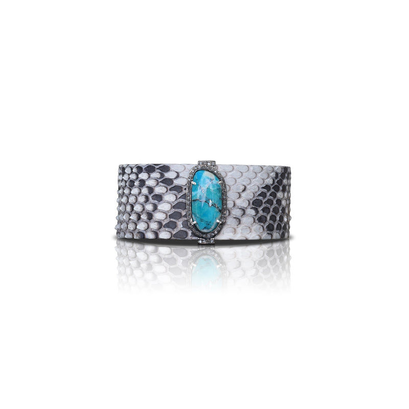 Natural Turquoise Python Cuff