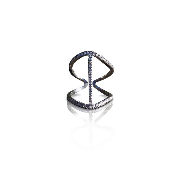 1-Row Adjustable Diamond Ring