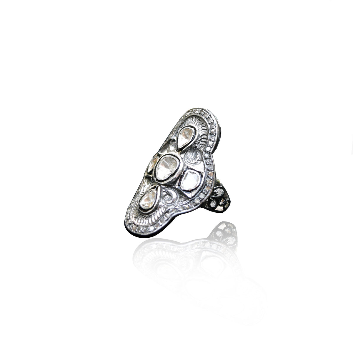 Sterling Silver Rosecut Ring