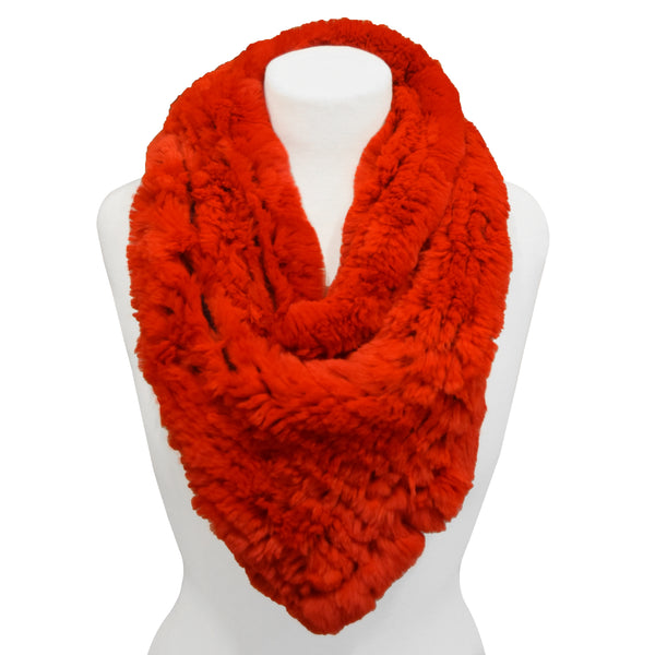 Red Fur Scarf