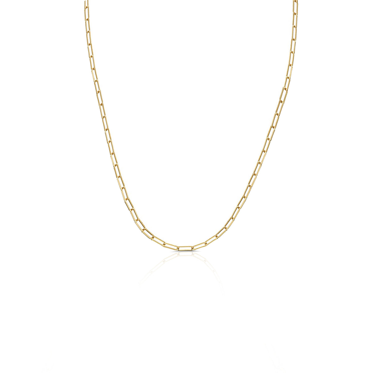 "18"" Yellow Gold Paperclip Chain"