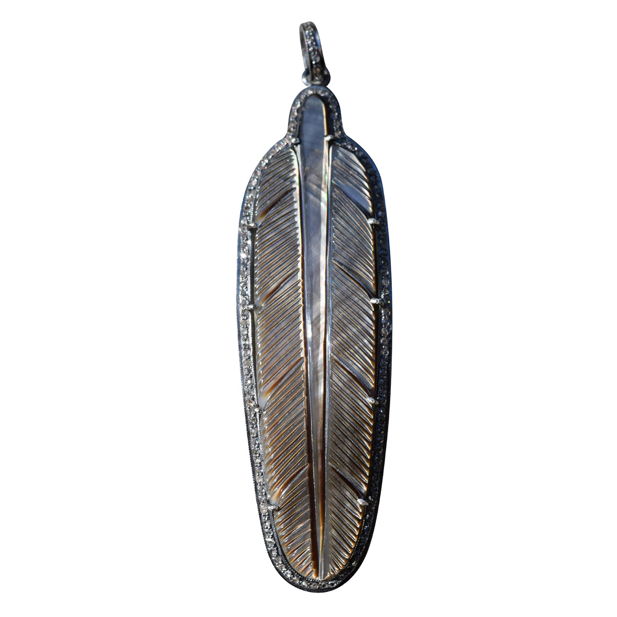 Mother of Pearl Feather Pendant