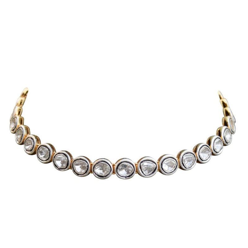 Sliced Diamond Choker