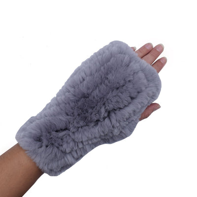 White Fur Hand Warmers