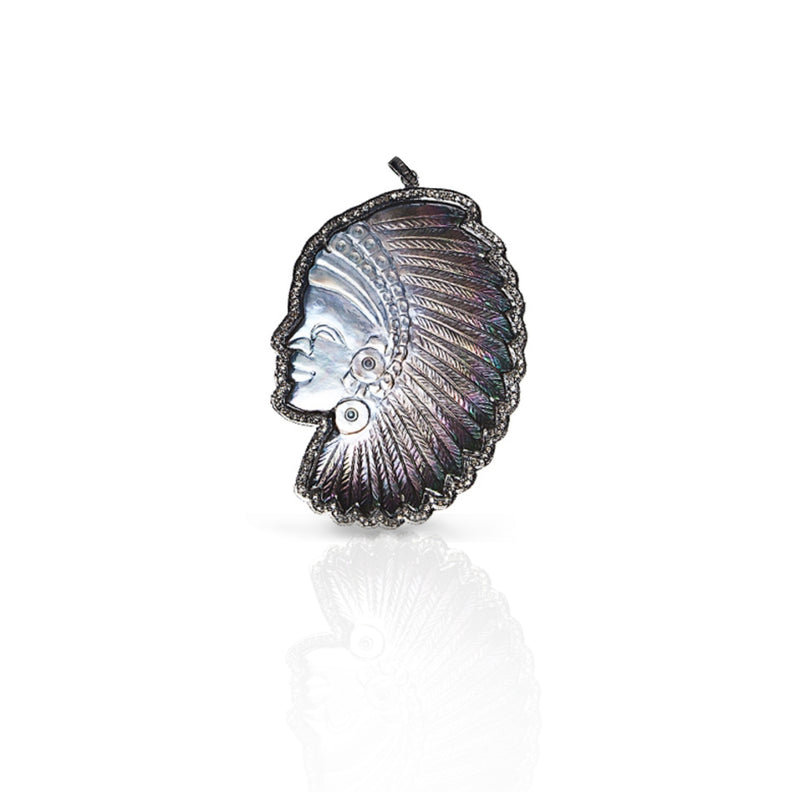 Grey Headdress Pendant
