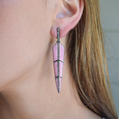 Enamel Feather Earrings