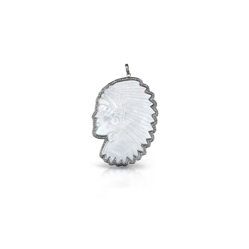 White Headdress Pendant