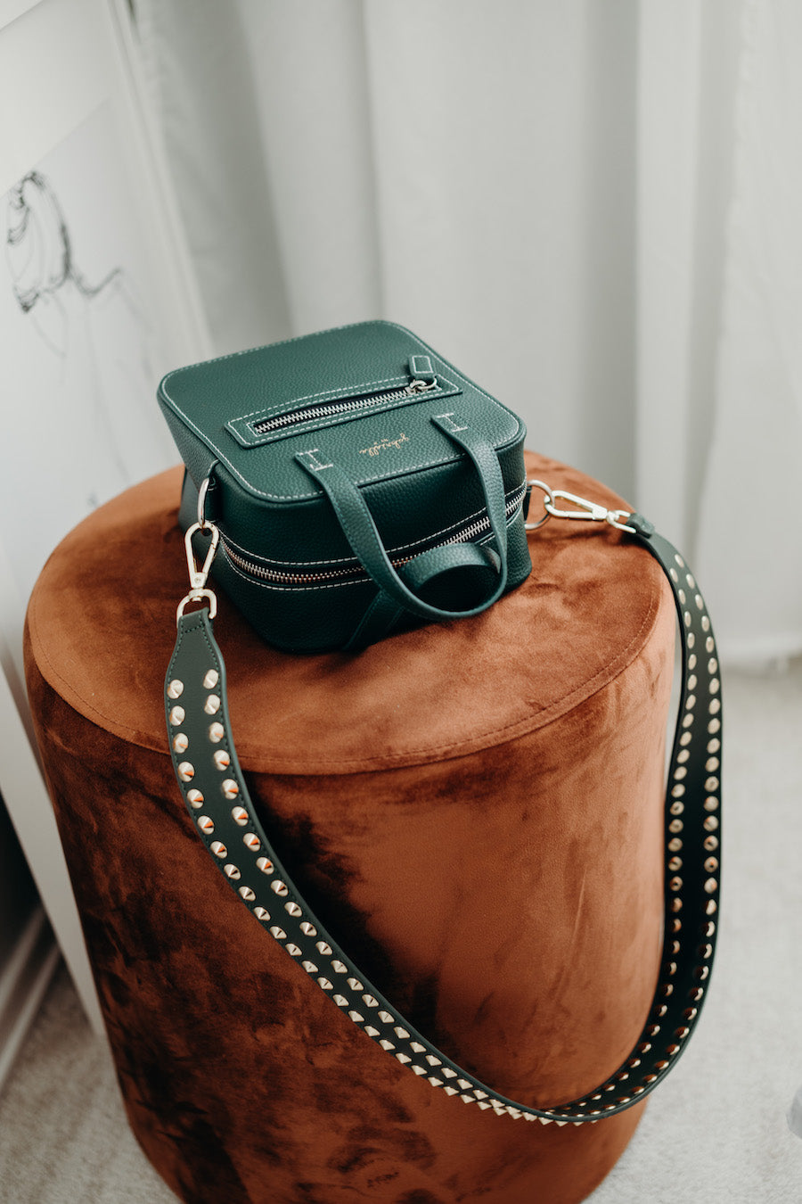 Aurora Bag + Double Stud Green (Reg length)