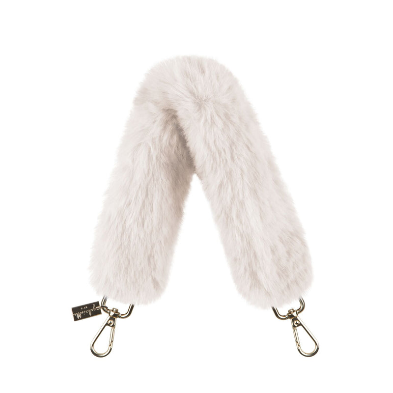 Top-Handle Faux Fur Bag Strap - Gabriellebyp
