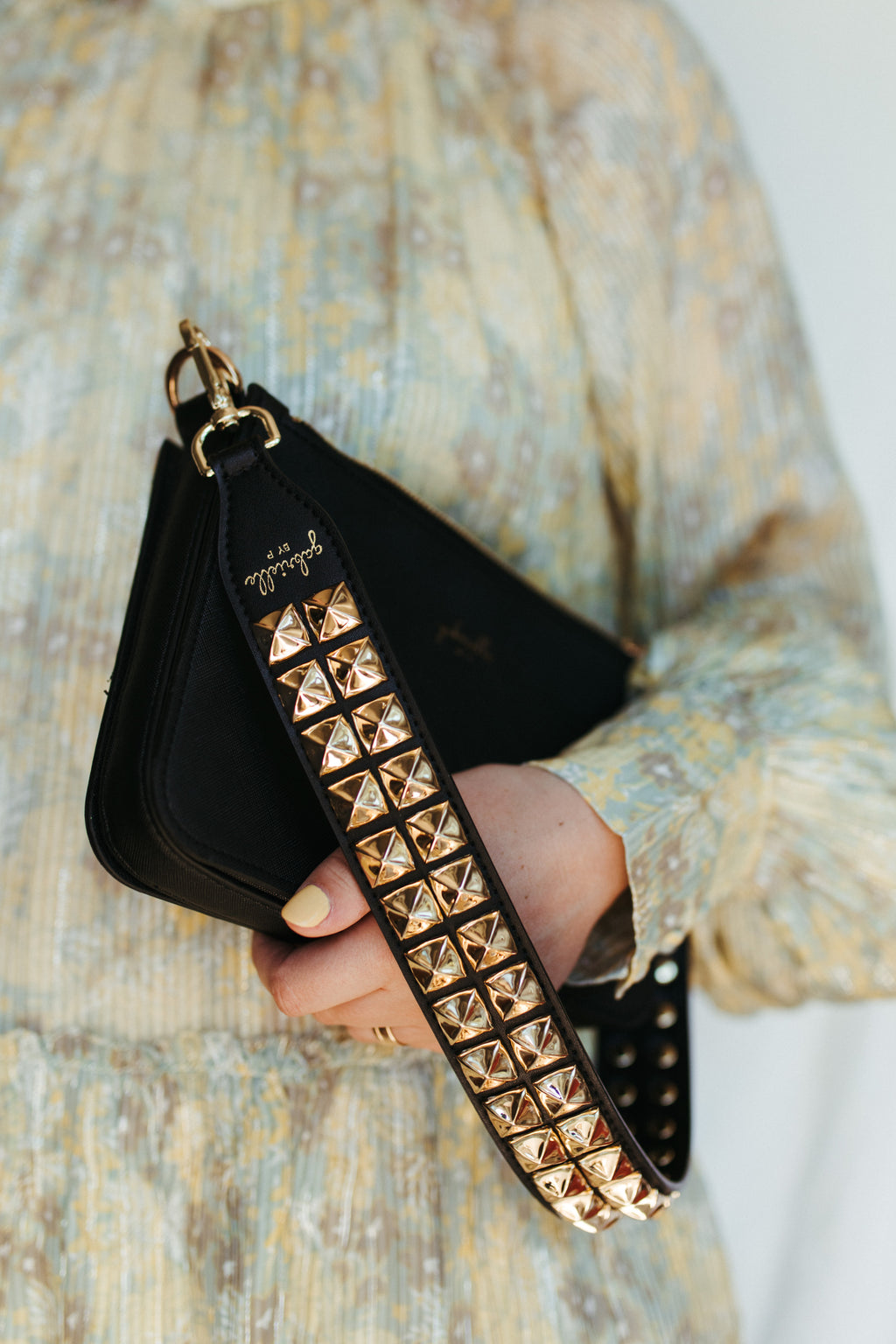 Pyramid Studded Shoulder Strap