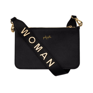 Classic Triple Zip Bag + Woman Shoulder Strap