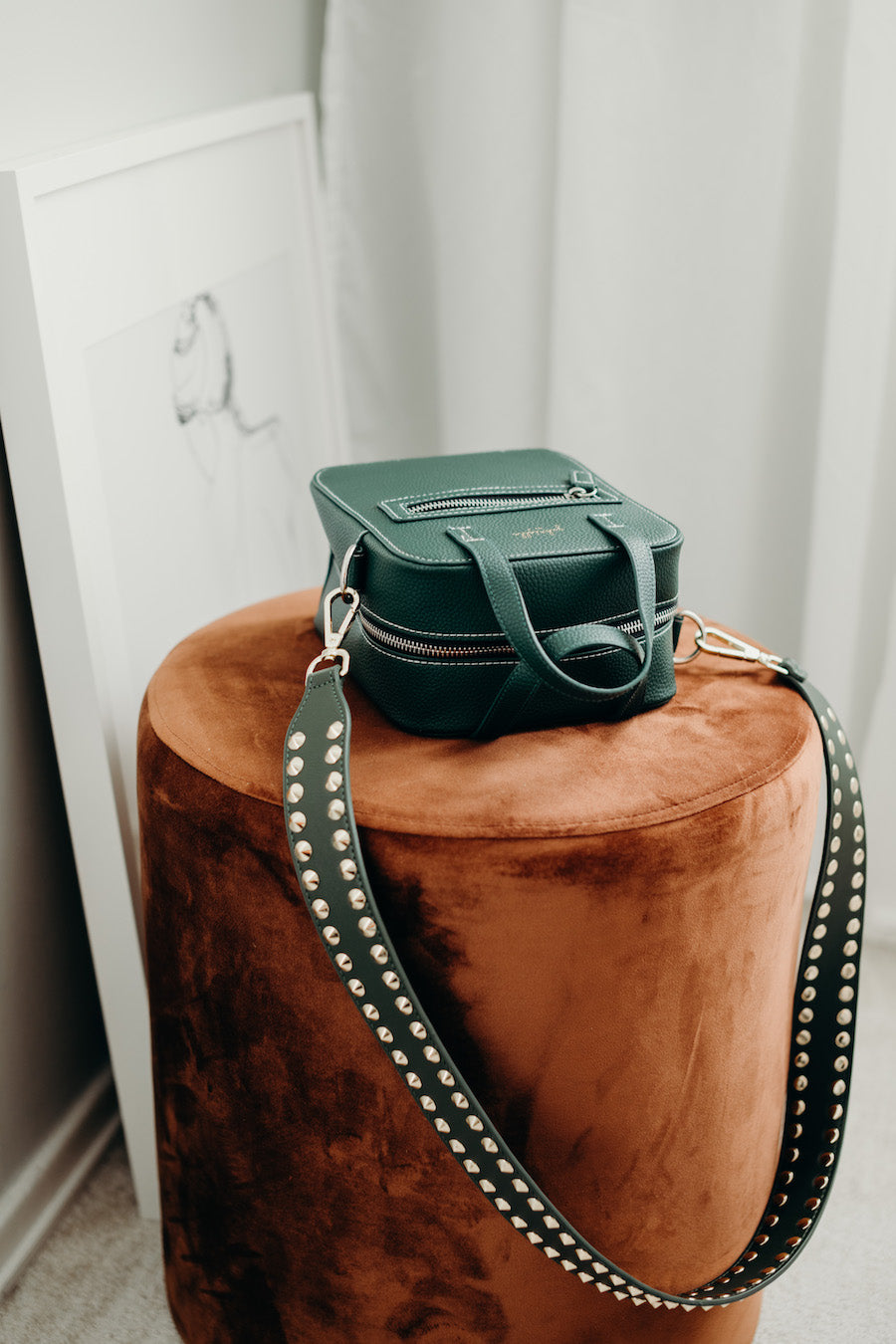 Aurora Bag + Double Stud Green (Long Length)